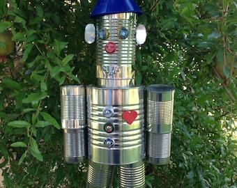 Wizard of Oz Tin Man - recycled outdoor art