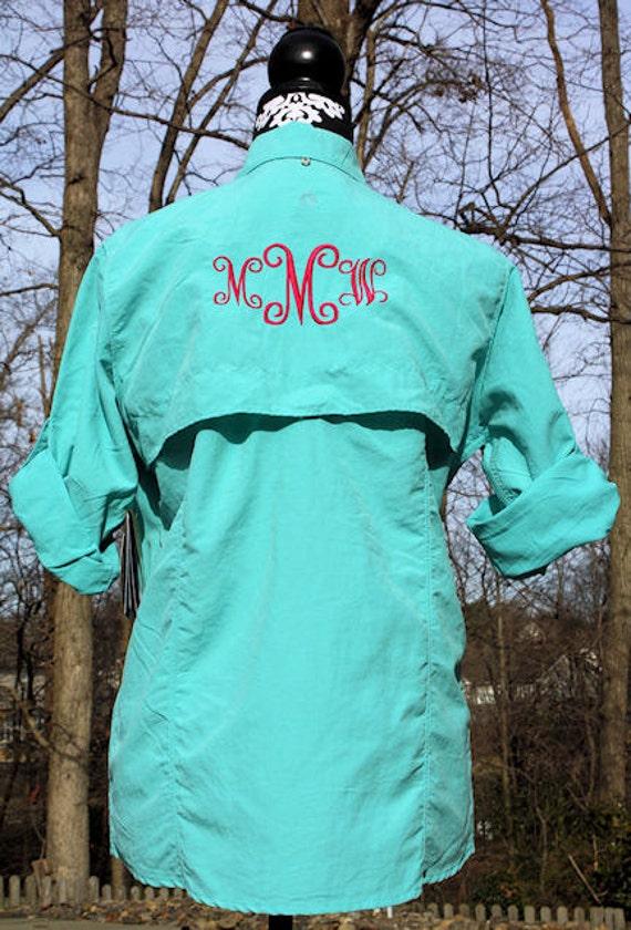 Items Similar To Funny Sweatshirt Cool Baseball Tshirt: Items Similar To Ladies' Monogrammed Aqua Fishing Shirt On