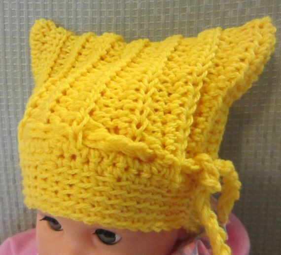 Crochet Baby Hat Bear Ears Pattern : Items similar to Crochet Pattern Baby Hat Bear Ears Square ...