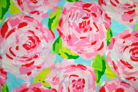 Lilly Pulitzer Fabric Hotty Pink First Impression By