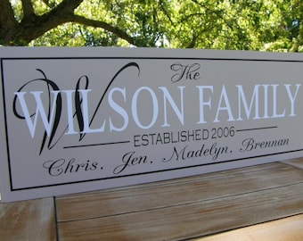 Couples Gift, Personalized Couple, Housewarming Gift, Personalized Family, Family Name Sign, Family Name Art, Family Name Plaque, Wood Sign