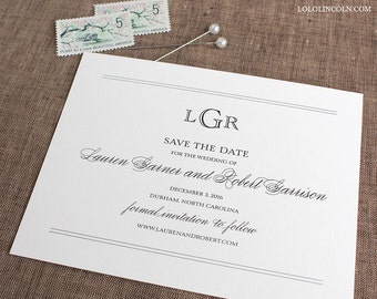 Preppy Monogram Save the Date Deposit