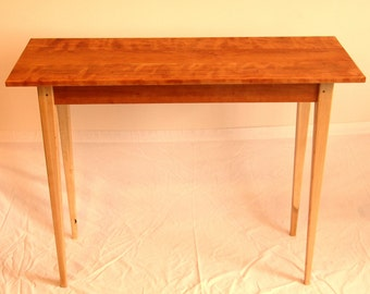 Shaker Style Hard Maple And Cherry Sofa Table