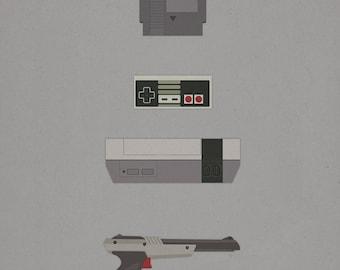 8 Bit Love - (8x10, 11x17, or 13x19) NES Nintendo Poster 80s