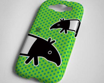 Tapir (green or blue) - Samsung Galaxy S3 Case - Samsung Galaxy S3 Cover - Plastic Samsung Galaxy S3 Case