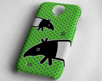 Tapir (green or blue) - Samsung Galaxy S4 Case - Samsung Galaxy S4 Cover - Plastic Samsung Galaxy S4 Case