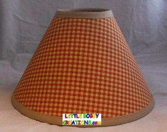Gingham lamp shade | Etsy