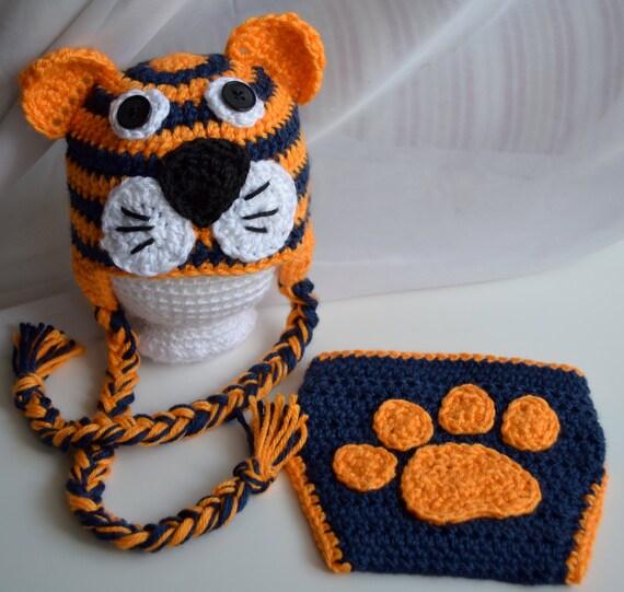 Auburn Tigers Diaper Cover & Hat Set Clemson by TheGrapeTurtle