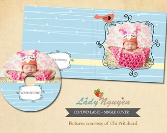 Instant Download CD/DVD Label and cover templates - CD009