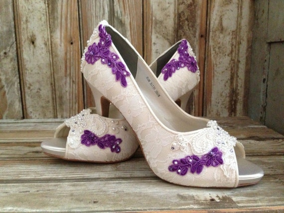 lavender wedding shoes colored bridal shoes purple ivory white all by laboutiquebride 5424