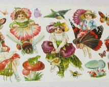Wonderful new Victorian Violette cute children fairy fairies riding bugs insects funny mushrooms butterflies scrapbooking card making crafts