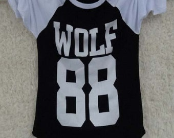 Kpop New EXO White Black  Unisex 3/4 Length sleeve T-shirts  (Dt51)