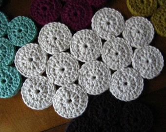 large crochet trivet, shown in white. made to order. select your color.