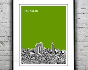 Asuncion Paraguay Poster Print Skyline Art South America