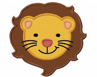 Lion Face Applique Machine Embroidery Design NO:0053