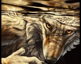 Immerse Yourself Underwater Werewolf
