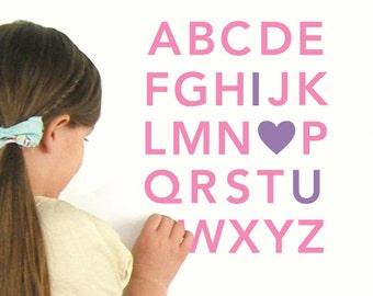 Alphabet Wall Decals - Nursery Wall Decals