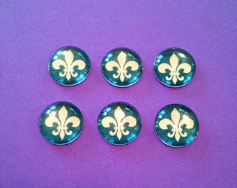 Fleur de lis Bubble Magnets