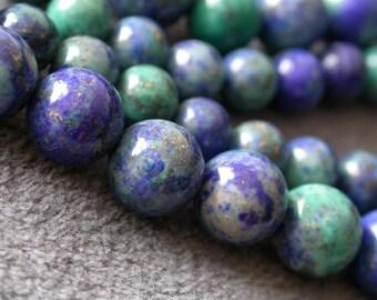 16pcs Green Phonix Lapis Lazuli 8mm round beads B14C