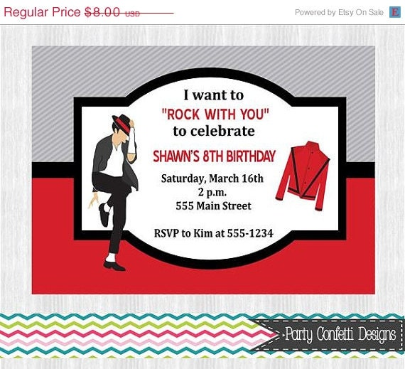 ON SALE Michael Jackson Birthday Party By PartyConfettiDesigns