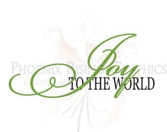 "Joy to the World - Vinyl decal - 11""x5"""