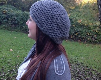 Slouchy crocheted beanie YOU CHOOSE COLOR