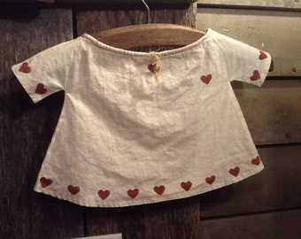 Vintage Doll/Child Dress/VALENTINE'S DAY is coming
