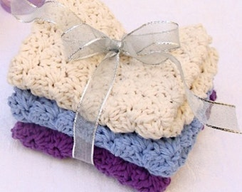 Crocheted Washcloth (20+ colors)