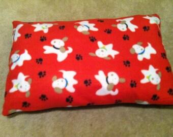 Red doggie Fleece pillow
