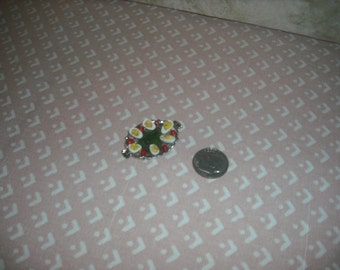 1:12 scale Dollhouse Miniature Tray of Deviled Egg's