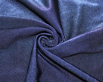 "Ribbed Swimwear Activewear 4 Way Stretch Nylon Spandex Lycra Navy Apparel Craft Fabric 90""-92"" Wide By The Yard"