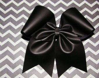 Flat Black Cheer Bow