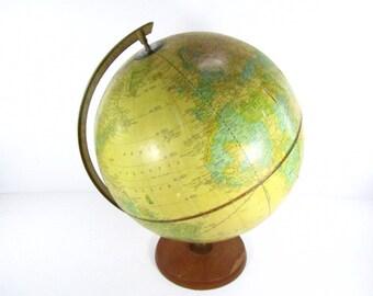 GLOBE, world Globe, Cram's Imperial World Globe, World Map, Interior Design, office decor, school globe,