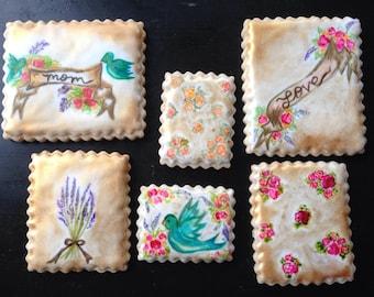 Mom Watercolor Cookies