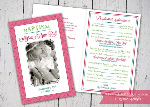 Lds Baptism Program Custom printable lds baptism