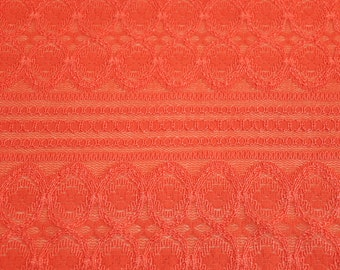 54381abb821a72 Orange Lace Fabric by the yard Stretchy Lace Fabric Knit Lace Fabric  Dresses Wedding Decoration - 1 Yard Style 6031-LACE