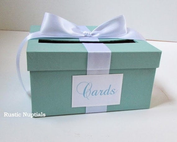 ... similar to Wedding Card Box Tiffany Baby Shower Card Holder on Etsy