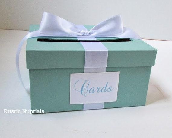 Items Similar To Wedding Card Box Tiffany Baby Shower Card