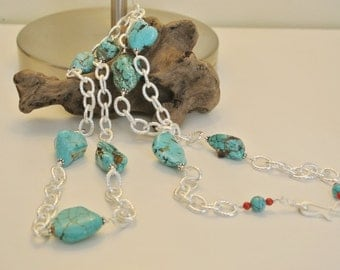 Chunk of Blue Necklace