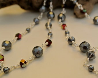 Fire and Slate Necklace