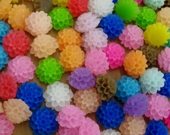 48 Resin Flower Cabochons, 20 mm - Item 53414