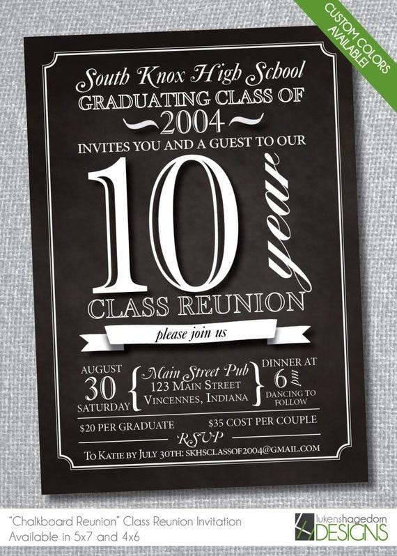 Chalkboard Class Reunion Invitation