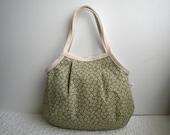 Granny Bag (Small) - Japanese fabric - Sakura - Cherry blossom - Kimono - Antique green - floral - small tote bag - hand bag - gift