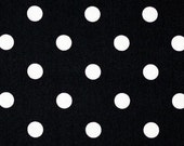 FAT QUARTER Black Polka dot Fabric by the Yard home decor upholstery Premier Prints on white -  SHIPSFAST