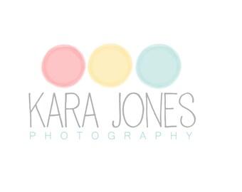 Photography logo - premade logo - watercolor logo - circle logo
