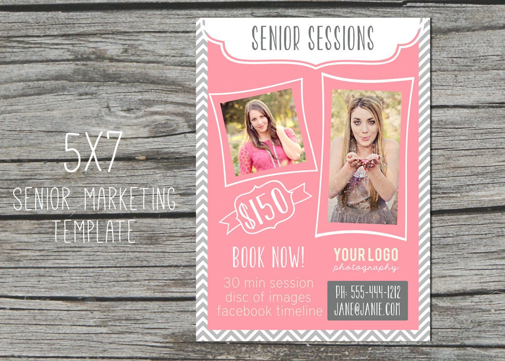free photography marketing templates - photography marketing template 5x7 senior by sweetlittlemuse