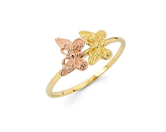 Butterfly, Butterfly ring, Gold Butterfly, Gold Butterfly Ring, butterfly jewelry, knuckle ring, Butterflies