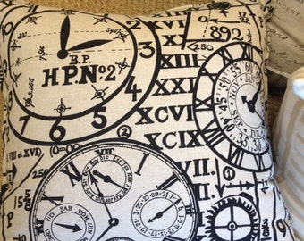 Telling Time Pillow Cover