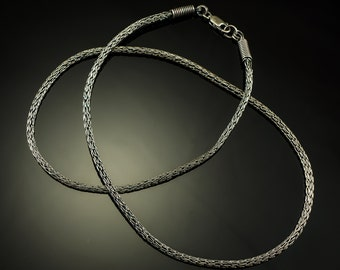 Viking knit hand-made fine silver chain 3.