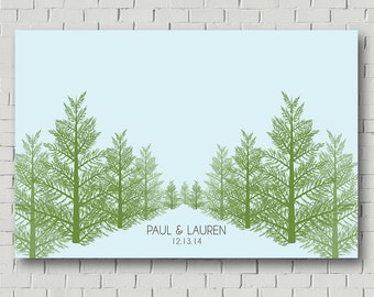 Woodland Wedding Guest Book Wedding Tree, Wedding Guest Book Alternative, Wedding Sign Wedding Tree, Wedding Keepsake Guest Book Pine Tree